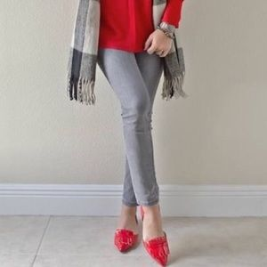 Banana Republic Shoes - Banana Republic Red Arielle Oxford Patent Flats